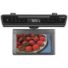 """SYLVANIA SKCR2706BT 10.2"""" Under-Counter Bluetooth Kitchen TV"""