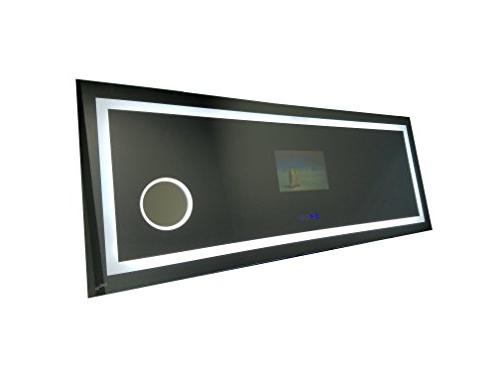 "GlassTek Smart Mirror 63"" Rectangle with Blue TV: 10.1"" with Touch Switch"