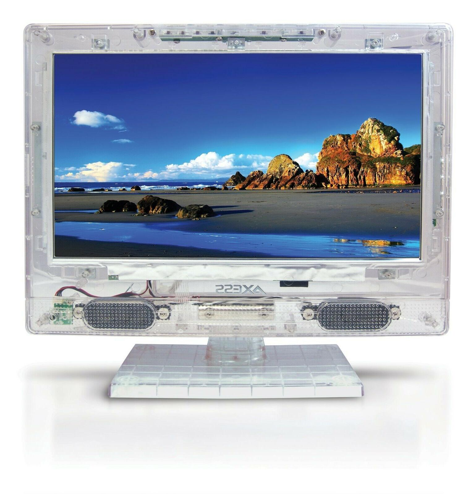 Axess Transparent TV with Clear Remote