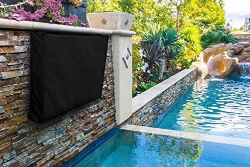 Outdoor Cover - Universal LED, Television Built in and Storage. Compatible with Standard Mounts and Stands.