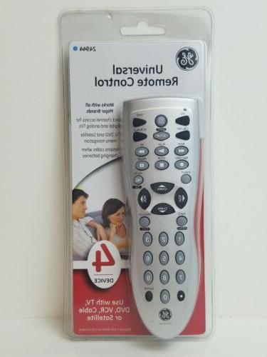universal remote control 4 device tv cable