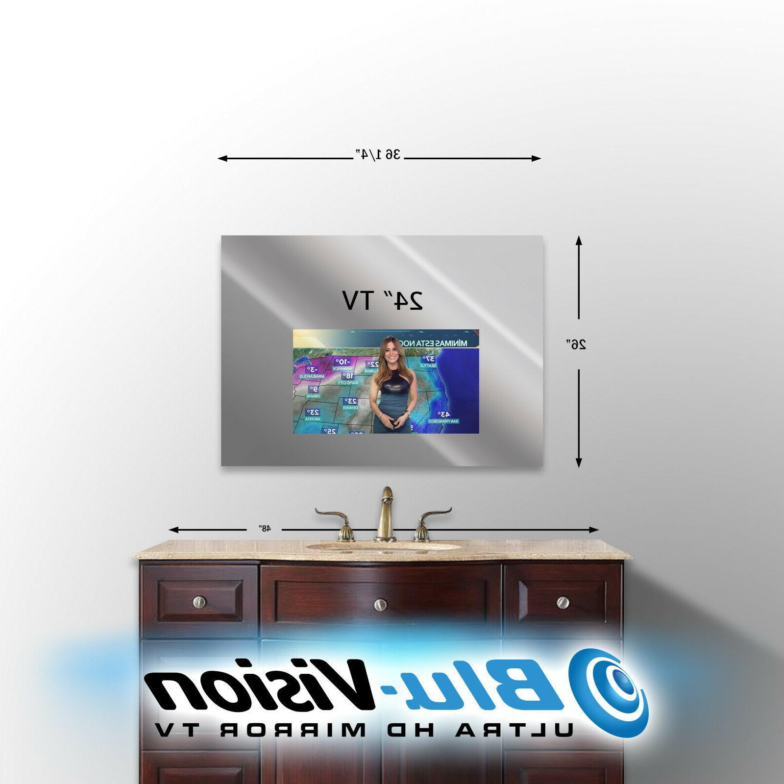 "VANITY MIRROR TV LG 24"" CLASS LED SMART HDTV 32""  W X 27"
