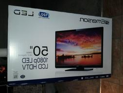 EMERSON LCD LED 1080p HD TV 50 IN NEW FACTORY SEALED MISB NO