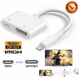 Lightning To HDMI Cable Digital AV TV Adapter For iPhone 6 7