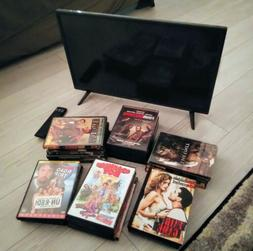 Lot Of Dvds And Smart Tv With Remote and HDMI free.Vizio 24