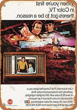 Wall-Color 7 x 10 METAL SIGN - 1967 RCA TV Star Trek - Vinta