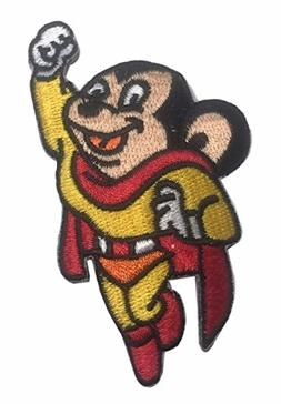 Mighty Mouse Television Show Character Flying Embroidered Ir