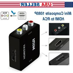 Mini Composite HDMI To RCA 1080P Audio Video AV CVBS Adapter