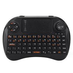 Welcomeuni 1pc 2.4Ghz Mini Wireless Keyboard Touchpad Mouse