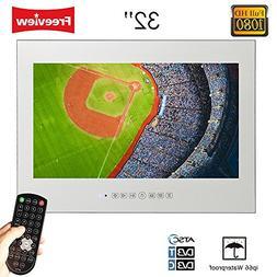 """Soulaca 32"""" Vanishing Seamless Mirror Frameless LCD TV for B"""