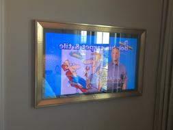 "Mirror TV 32"" SHARP Smart TV, Contemporary Gold Frame, ON"