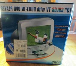 COBY MODEL TV-DVD-1350 13 Inch Combo Remote Books New In Box