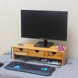 Rart Monitor Stand,Desktop Monitor Riser Tv Stand and Desk O