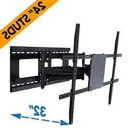 Full Motion TV Wall Mount for 42 80 inch TVs Extends 32 Moun