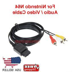 N64 SNES Gamecube 6FT RCA AV TV Audio Video Stereo Cable Cor