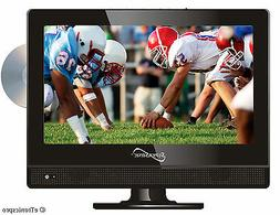 "NEW SUPERSONIC 13"" Inch LED PORTABLE 12V Volt DC/AC HD TV DV"