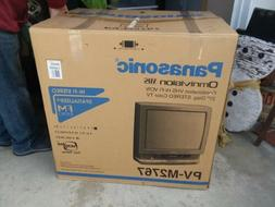NEW Panasonic TV/VCR Combination w/FM Radio & Alarm Clock 27