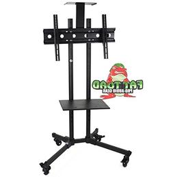 LCD TV Cart by Fat Toad | Rolling Flat Panel Screen Stand wi