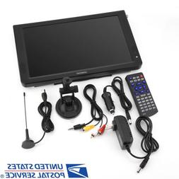 """Portable 12"""" Led Digital TV Television Rechargeable Car DC 1"""