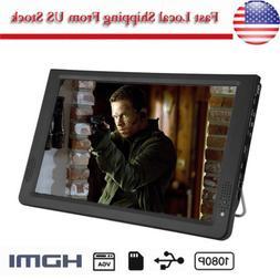 "Portable 12"" TFT LED HD Handheld 1080P TV Television 12V Car"