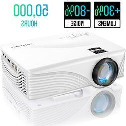 "Portable Video Projector 2000 Lumen 1080P 170"" Display 50000"