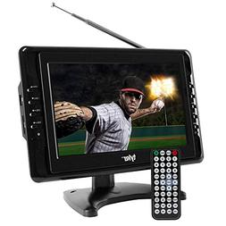 "Portable TV 10"" Inch Widescreen LCD Digital Tuner Travel Gif"