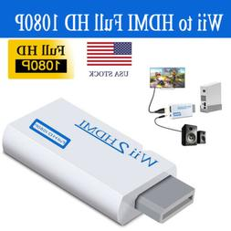 Portable Wii to HDMI Wii2HDMI Full HD Converter TV Audio Out