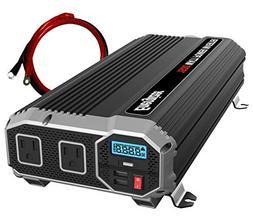 ENERGIZER 1500 Watt 12V Power Inverter, Dual 110V AC Outlets