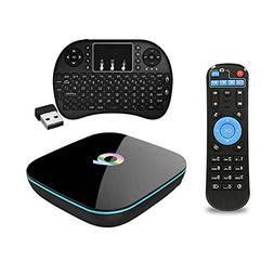 QBox TV Box + Wireless Keyboard, 4K Android 5.1 2GB 16GB S90