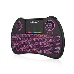 AuviPal R9 2.4GHz Mini Wireless Keyboard Mouse Combo with 2