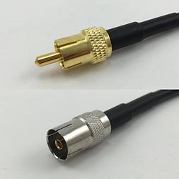 6 inch RG174 RCA MALE to DVB TV Pal Female Pigtail Jumper RF