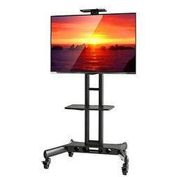 Mount Factory Rolling TV Cart Mobile TV Stand for 40-65 inch