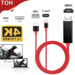For Samsung S10 S9 S8 Plus Note 10 9 8 MHL Type C To HDMI 4K