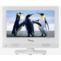 Supersonic SC-1311 White 13.3 LED Widescreen HDTV Television