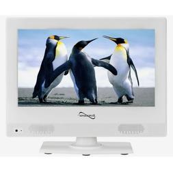 "Supersonic SC-1311 13.3"" White LED Widescreen HDTV Televisio"