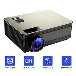 Projector, PONER SAUND Video Projector Outdoor Movie Project