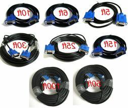 SVGA SUPER VGA Monitor 15PIN M/M Male To Male Cable CORD FOR