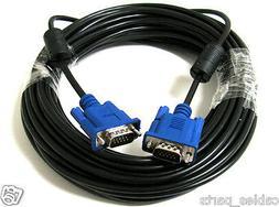 25FT 25 FT 15 PIN SVGA SUPER VGA Monitor M Male 2 Male Cable