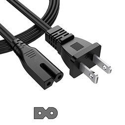 tesha 6FT 18 AWG 2 Prong Power Cord Wall Cable for Vizio Sha