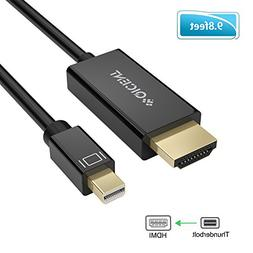 QICENT Thunderbolt Male to HDMI Cable 9.8ft for Laptop to TV