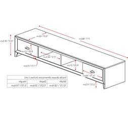 "CorLiving TLK-802-B Lakewood TV Bench, 80"", Black Wood Grain"