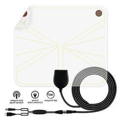 TV Antenna, Indoor Amplified HDTV Antenna 60--80 Mile Range