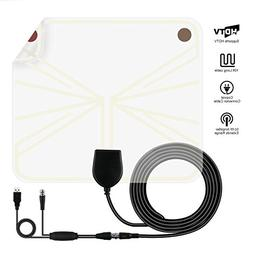 TV Antenna, Indoor Digital HD Antenna Amplified Signal Boost