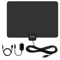 TV Antenna,  Amplified Indoor HDTV Antenna 60-80 Miles Range