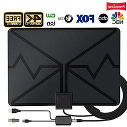 TV Antenna,Indoor Digital HDTV Antenna Amplified 80 Miles Ra