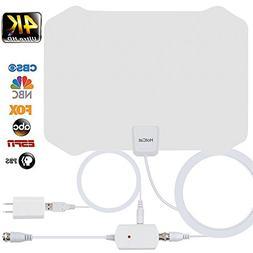 TV Antenna, Indoor Digital Amplified HDTV Antennas 70-100 Mi