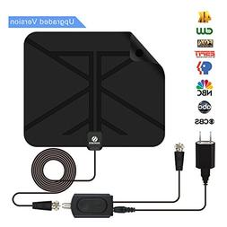 TV Antenna, HDTV Digital Antenna- 35 to 50 Miles Range with