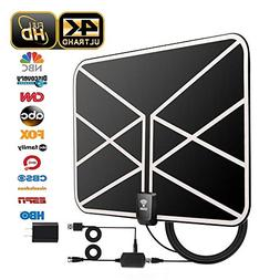 HD TV Antenna, 2019 Newest Indoor Digital TV Antenna 60-80 M