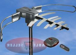 OUTDOOR TV ANTENNA MOTORIZED AMPLIFIED HDTV HIGH GAIN 36dB U