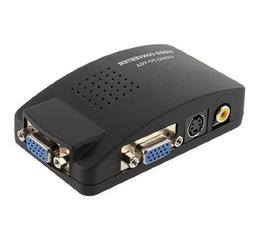 New TV AV S Video RCA Composite to VGA PC Monitor Converter